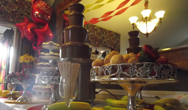 Wedding Reception Catering And Chocolate Fountains Temptation Chocolate